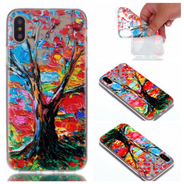 Wholesale S4 Flower Case - Flower Soft TPU Silicone Painting Phone Cases for iphone 8 iPhone 7 7 Plus 6 6s Plus Case for Samsung S4 S5 S6 Back Cover Cases
