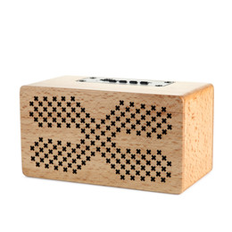 Wholesale Wholesale Button Wooden - Wooden Bluetooth Wireless Portable mini Speaker With Bass Music Sound Intelligent Calls Handsfree TF Card subwoofers