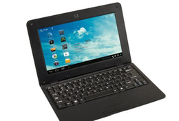 Wholesale Android Laptops China - 1 pc black Android operation system computer PC laptop 10 inch size 4gb rom