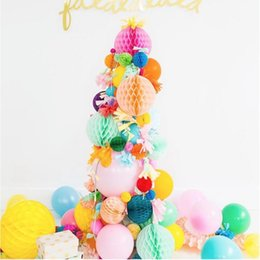 """Wholesale Tissue Paper Flower Party Decorations - 4""""6""""8""""10""""12""""14""""16 Inch Decorative Tissue Paper Honeycomb Balls Flower Pastel Birthday Baby Shower Wedding Holiday Party Decorations"""