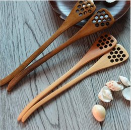 Wholesale Stirrers For Coffee - ECO Friendly Wooden Honey Stick Dipper for All Size Jar, Wood Coffee Stirrers, Grained