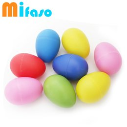 Wholesale Egg Rattle - Wholesale- mifaso 6 pcs set colorful eggs baby rattles, shake have music, baby hands shaking toys, bebe music toys