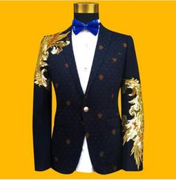 Wholesale ceremony suits men - Blazer men formal dress latest coat pant designs suit men costume homme terno sequin singer master of ceremonies suits for men's