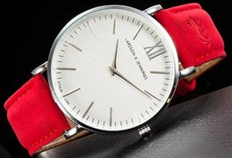 Wholesale Power Reserve - Larsson and Jennings LÄDER series of black red quartz watch neutral watch, men and women watch, demeanor