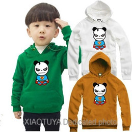 Wholesale Kids Superman Winter Coats - Free shipping size 70---150cm hoodies kids Panda Superman printed hip hop hoodie for children coat 9 Color