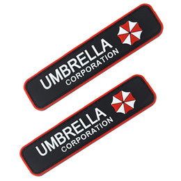 Wholesale Resident Evil Umbrella Corporation - PVC Resident Evil patch Umbrella Corporation Logo Uniform Costume Badge Patch Tactical 3D Rubber PVC patches Morale Armband Badge free ship