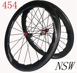 Wholesale Road Bike Wheel Rims - NSW 2 year warranty 58mm dimple wheelset 45 454 carbon wheels 50 bike rim 80 clincher wheelset