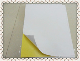 Wholesale Laser Shipping Labels - Wholesale- 2016 Free Shipping Adhesive A4 Blank Blank Paper Matt White Paper woodfree Label for Laser inkjet Printer