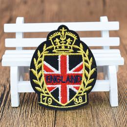 2019 patches de bandeira Inglaterra Emblemas bandeiras patches para roupas de ferro bordado estilo remendo applique ferro em remendos acessórios de costura para roupas patches de bandeira barato