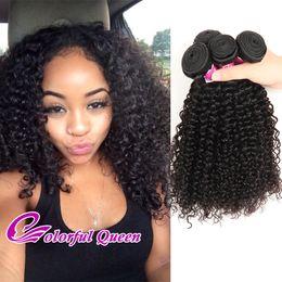 Wholesale Kinky Curl Weaves - Indian Curly Virgin Hair 4 Bundles 7a Grade Virgin Unprocessed Human Hair Weave Afro Kinky Curly Indian Virgin Human Hair Weft Jerry Curl