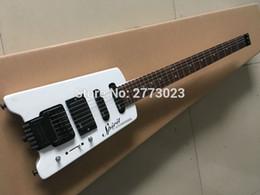Custom Shop Alpine White Steinberger Spirit Guitare électrique sans tête EMG Micros Tremolo Bridge Black Hardware Meilleures ventes ? partir de fabricateur