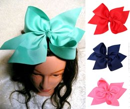Wholesale New Hair Clips Style - 2017 new style ! 10 Inch Boutique Grosgrain Ribbon Bow Girls Hairpins Big Bowknot Hair Alligator Clips 15pcs  196 colors available !