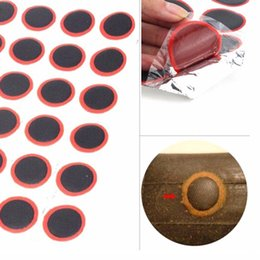Wholesale Tire Repair Rubber - Hot Selling 48 x 25mm Round High Quality Bicycle Bike Tire Tyre Rubber Patch Piece Repair tools kits for Cycling