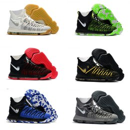 Wholesale Mens Winter Boots Size 12 - 2017 High Cut New KD 9 Mens Basketball Shoes Kevin Durant 9s Men's Discount Training Athletics Sports Sneakers Boots US Size 7-12