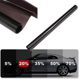 Wholesale Tinting Cars Window Film - Wholesale- Black 20% Transparent Car Home Window Tint Film 90% Anti-UV 6M x 50CM