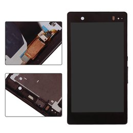 Wholesale Touch Screen Xperia Z - For Sony Xperia Z   LT36i ~ Full LCD Display+Touch Screen Digtizer+Black Frame ~ Mobile Phone Repair Part Replacement
