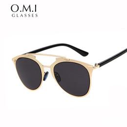 Wholesale Superstar Factory - Retro Reflected Sunglasses Cat Eye Superstar Women 2017 Hot Graphic Double Bridge CD Sun Glasses Brand Designer OM248 Direct Factory Price