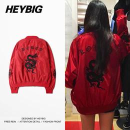 Wholesale Korea Men Coat Styles - Wholesale- Retro Dragon Embroidery Jacket Korea fashion Icon Style HEYBIG 2016 newest Bomber Jackets Vintage Short Coat Asian Size!!