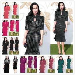 Wholesale Woman Green Fleece Lined - 2017 New Women's Elegant Irregular Colorblock Patchwork Contrast Check Tunic Wear to Work Office Party Bodycon Fitted Dress Size S-2XL