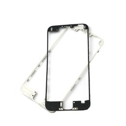 Wholesale Liquid Chrome - 100pcs lot DHL New Front Bezel with Liquid Hot Glue LCD Middle Frame Housing Chrome Screen Holder for iphone 5 5G 5S 5C supporting bracket