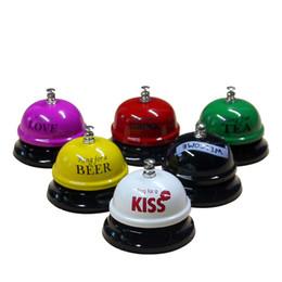 Wholesale Desk Bells - Colorful Desk Kitchen Hotel Counter Reception Restaurant Bar Ring for Service Call Bell