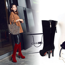Wholesale Sexy Bootie High Heel Boots - Fashion sexy Vintage Women boots Ankle Boots Black Nude High Heels Woman Stiletto Heel Ladies Bootie free shipping