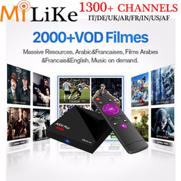 Wholesale Hdmi Media Player For Tv - 1300+ arabic europe French iptv channels for A5X MINI PLUS Android 7.1 TV BOX RK3328 Media player 1GB 8GB set top box