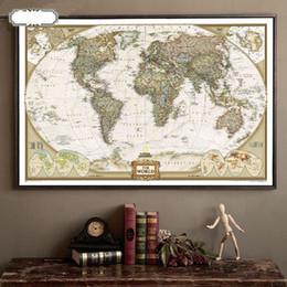 Wholesale Paper Growth Chart - Vintage Retro Matte Kraft Paper World Map Antique Poster Wall Sticker Home Decora 72.5*47.5CM