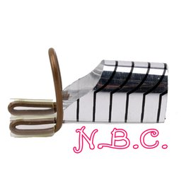 Wholesale Dual French Tips - Wholesale- 1pc Reusable Dual Silver Nail Form For Nail Art Making C Curve Acrylic French Tips Free Shipping