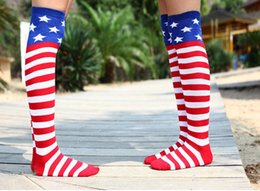 Wholesale Flags Images - Gmark Hot Selling Women's Men's Crazy Funny American Flag Cotton Image Socks Men's Crew Socks Free Shipping
