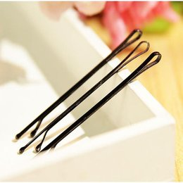 Wholesale invisible hairpin - NEW ARRIVAL Black Invisible Hair Clips Wave Straight Pins Grips Barrette Popularity Simple Hairpin For Alloy Hair Accessories.1000pcs\