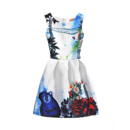 Wholesale Violin Dress - Baby Kids children Clothing 2017 Family Matching Outfits family Violin print mother and daughter matching dresses girls dress clothes #6010