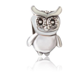 23cefb449 Fit Pandora Charm Bracelet European Silver Bead Charms Cute Owl Beads DIY  Snake Chain Lucky For Women Bangle & Necklace Jewelry