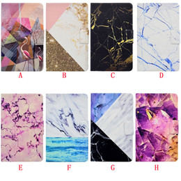 """Wholesale Ipad Rubber Skin - Marble Leather Case Pouch For Ipad Pro 10.5"""" 9.7"""" 2017 Mini 1 2 3 4 5 6 Air 2 Tablet Stand ID Card Flamingos Smart Auto Wake Up Sleep Cover"""