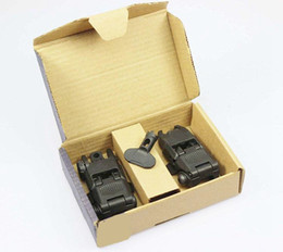 Wholesale Back Up Sights - Tactical Gen 2 Back-up Sight Front And Rear Folding Sights with box BK DE