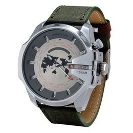 Wholesale Map Watches - Top Luxury Brand Mens Watch Sports Quartz wristwatch Fashion Casual Watches Clock Male good gift for men & boy With Date World Map Wholesale