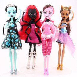 Wholesale Plastic Doll Bodies - No box of monster dolls draculaura   clawdeen wolf   frankie stein moveable joint body quality girls classic toys plastic gifts birthday pre