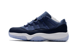 Wholesale Moon Racing Cycling - New Retro 11 XI men Basketball Shoes Low GS Blue Moon air retro 11s Low Midnight Navy blue high quality Sneaker Sport Shoes