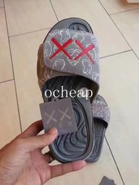 Wholesale Summer Slippers Sale - KAWS x Air retro 4 Cool Grey Slippers Mens KAWS x Air retro Hydro 4 Cool Grey Slippers for sale Size US 7-12