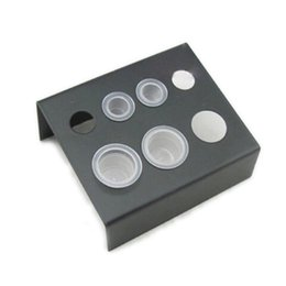 Wholesale Makeup Stands - 1PC Black Stainless Steel Tattoo ink cup holder Stand 7 Holes Supply Women Makeup Accessories Skin Beauty Wholesale