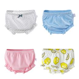 Wholesale Diaper Kids Cute Girls - 2017 Cute Hot Baby Pure Cotton Briefs Pants Cartoon Infant Boys Girls Underwear Babies Wear Lemon Briefs Casual Soft Kids Clothes Pant A7199