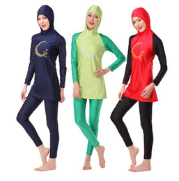 Wholesale Muslim Women Swimming - wholesale women swimwear muslim swimwear girl swimming wear E149