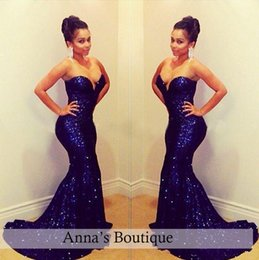 Wholesale Shining Mermaid Sweetheart Evening Dresses - 2017 Sequins Backless Blingbling Sexy Mermaid Prom Dresses Shining Sweetheart Court Train Formal Celebrity Evening Gowns Plus Size
