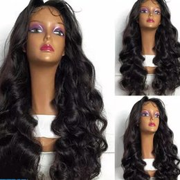 Wholesale Cheap Synthetic Lace Wigs Hair - Wholesale Price Cheap Wig Kinky Loose Curly Full Lace Hair Synthetic Wigs For Black Women Body Wave Synthetic Lace Fronrt Wig free shipping