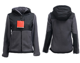 Wholesale Outdoor Winter Jackets Ladies - Free Shipping New Winter Women's Fleece Warm Jackets Pink Ribbon For Ladies Windproof Coats Outdoor Casual Soft Shell Down Ski Sports Jacke