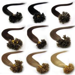 Wholesale Double Drawn Stick - Wholesale price for Double Drawn pre bonded Keratin stick hair U tip hair extensions European Human Hair