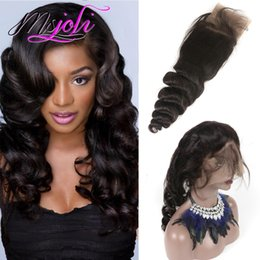 Wholesale Peruvian Loose Wave Virgin Hair - Peruvian virgin hair human hair weave 360 lace frontal pre plucked loose wave free part unprocessed hair new fashion 8 to 22 inches