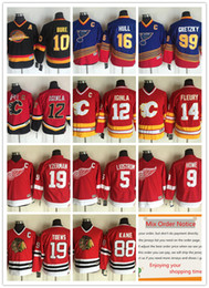 Wholesale Jarome Iginla Jersey - Youth Throwback Calgary Flames Hockey Jersey 12 Jarome Iginla 14 Theoren Fleury #10 Pavel Bure #99 Wayne Gretzky 16 Brett Hull KIDS JERSEYS