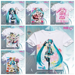 Wholesale Pink Animations - Wholesale- 2016 Clothes Hatsune Miku T Shirt Anime Japanese Famous Animation Novelty Summer Men's T-shirt Cosplay Costume Clothing XD-017