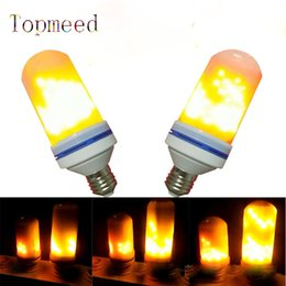 Wholesale Lamps For Led Christmas Candles - E27 2835SMD 7.5W 3 modes LED Flame Effect Fire Light Bulbs Flickering Emulation Decorative Flame Lamps For Christmas Halloween Decoration